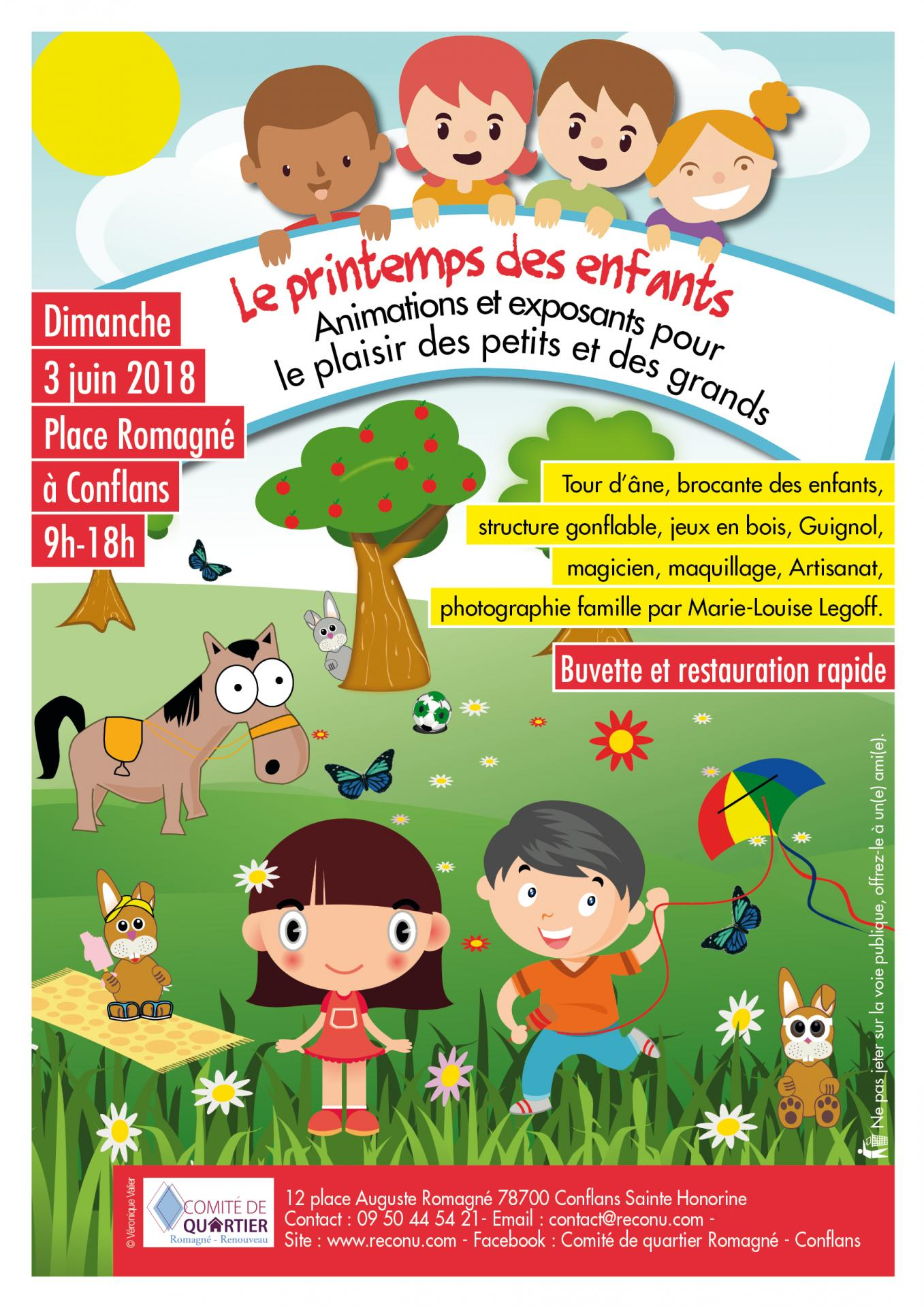 Affiche printemps des enfants 2018 2