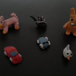 Animaux et figurines en pâtes fimo