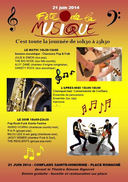 Fête de la musique organisée en partenariat avec l'association OBJECTIF ZIK