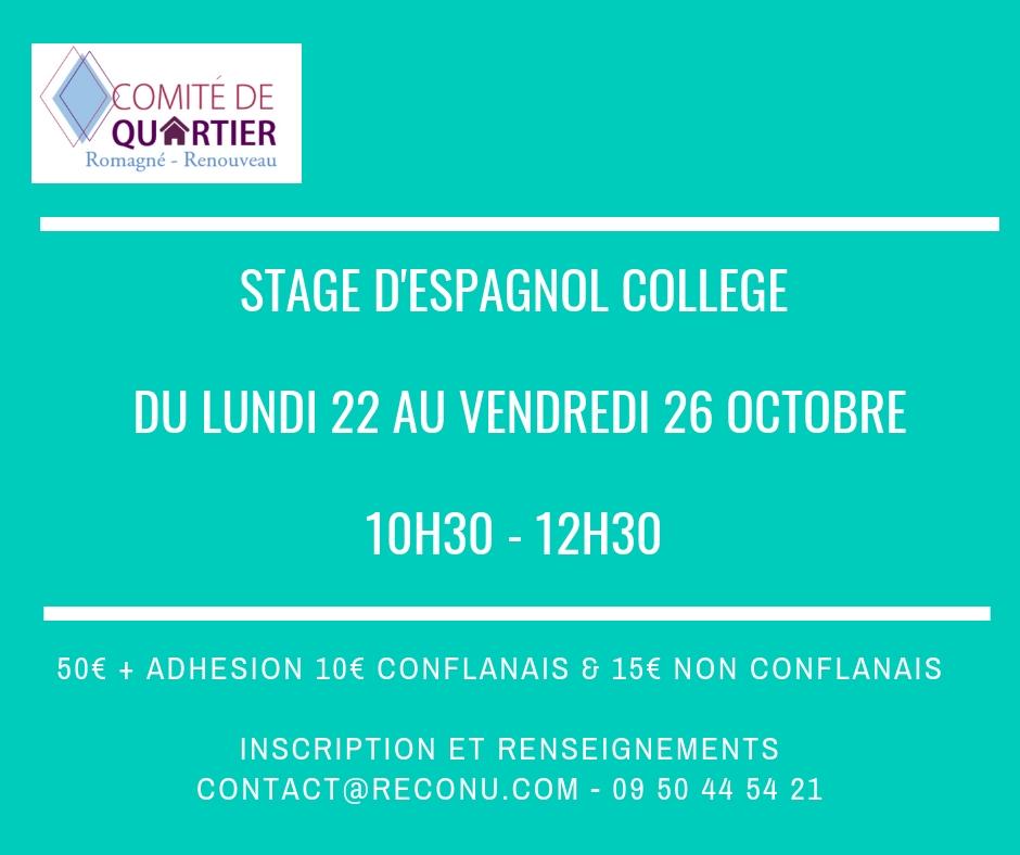 Stage d espagnol college